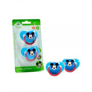 Set x 2 chupos con tapa Mickey Mouse